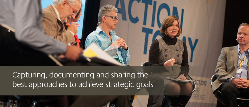 capturing document and sharing the best approaches to achieve strategic goals